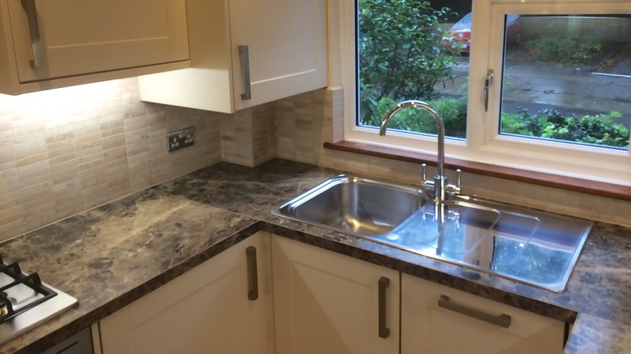 Granite worktop installation